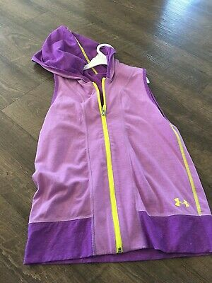 Girls Purple Under Armour Reversible Sleeveless Vest Jacket NWT Size Youth Large