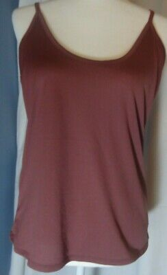 Lisa Rinna Collection Top Solid Camisole Blush DUSTY ROSE Size 2X A65399