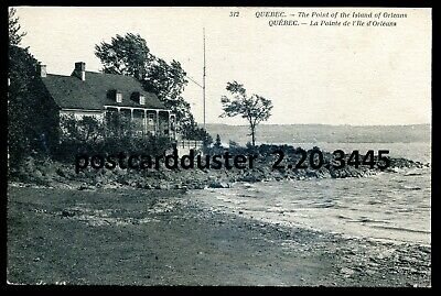 3445 - ISLAND OF ORLEANS Quebec Postcard 1910s Waterfront House