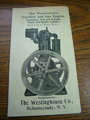Westinghouse Gas Engines Advertising Flyer..Schenectady NY