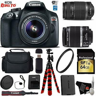 Canon EOS Rebel T6 DSLR Camera with 18-55mm is Lens & 55-250mm is II Lens Kit