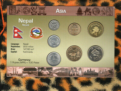 Coins from Around the World Nepal 7 coin UNC 1996-2012 10 Rupees 1997 5 Rupee 96
