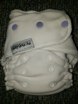 Landry Parker Ave WAHM OS fitted cloth diaper