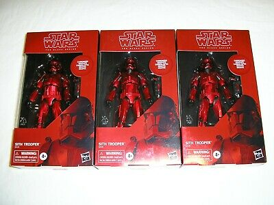 Lot of 3 Star Wars Black Series CARBONIZED SITH TROOPER #92 Amazon Exclusive