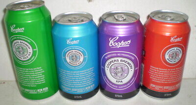 FOUR  collectible beer cans  - Coopers