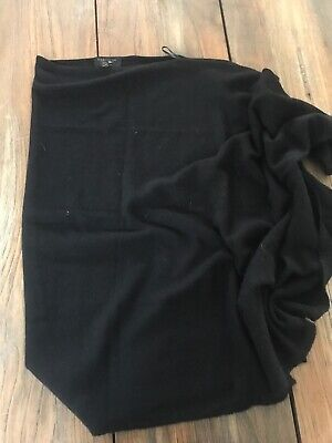 CHARTER CLUB Cashmere Poncho, Black, One Size, NWOT