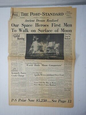 Moon Landing Syracuse Post Standard July 21, 1969 8 pages
