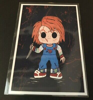 Chucky Childs Play horror movie wall art print 4x6