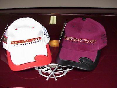 Corvette 50th Anniversary Limited Edition Cap Hat set - Matching Numbers - RARE!