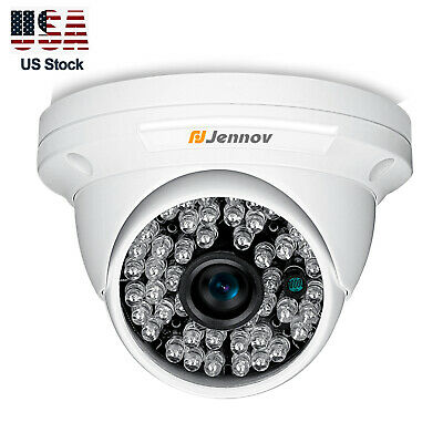 Jennov Outdoor Dome Home Security Surveillance Camera 1080p HD 4in1 Night Vision