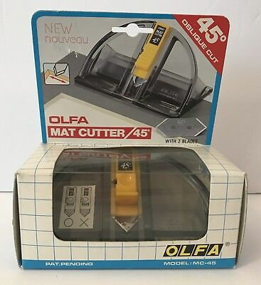 Vintage OLFA Mat Cutter 45 Degrees Bi-Directional Craft Art Cutting MC-45 Japan