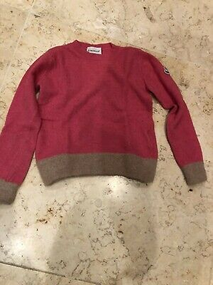 100% Authentic MONCLER Kids Pink Alpaca Wool Cashmere Jumper 2-3 Years