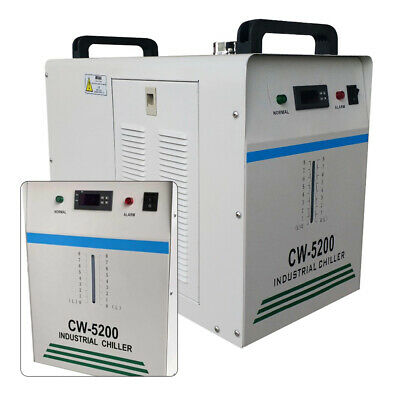 CW5200 Industrial Water Chiller 220V Water Coolers 130W/150W CO2 Glass Laser UK