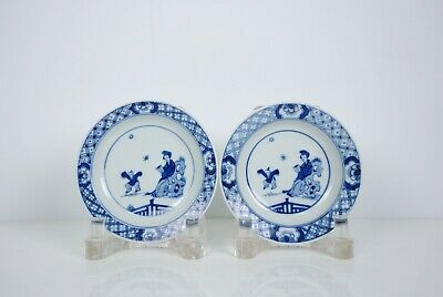 A Pair of Blue and White Dishes