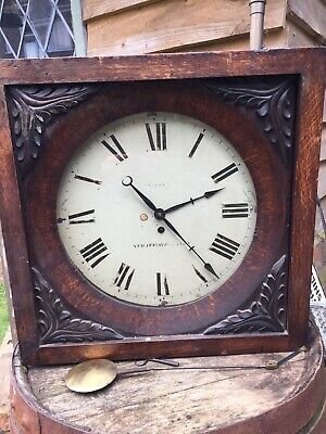 19th Century Oak Cased Antique Wall Clock