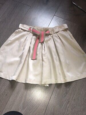 VERY GOOD  GUCCI TENNIS / Skater SKIRT Culottes Shorts GIRLS - AGE 10 Beige