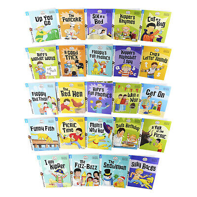 Biff, Chip and Kipper Stage 1 Read with Oxford 24 Books Collection For Age 3+