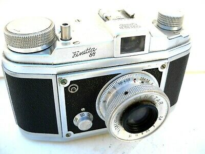 **1950`s FINETTA 88 35mm ROLL FILM VIEWFINDER CAMERA/CASE VERY GOOD CONDITION**