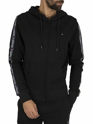 Tommy Hilfiger Men's Lounge Zip Hoodie, Black