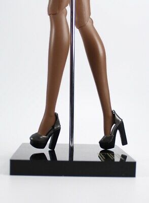 Integrity Toys: Nu Face Smoke & Mirrors Lilith Black Faux Leather Heels Shoes