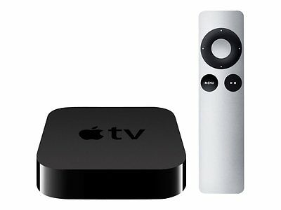 Apple TV (3rd Generation) MD199LL/A - Black.  With Power Cable & 2 Remotes