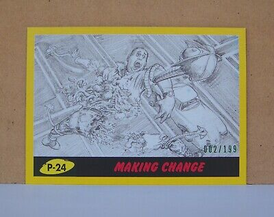 2017 Topps Mars Attacks Revenge Yellow parallel card P-24 Making Change 002/199