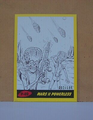 2017 Mars Attacks Revenge Yellow parallel card P-49 Mars ll Powerless 002/199
