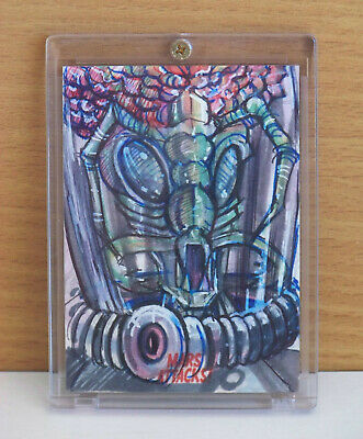 2015 Topps Mars Attacks Occupation Throwback sketch card Insect Martian!