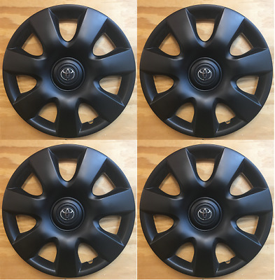 """4x BLACK 15"""" hubcap wheel cover fit Toyota Camry 2000 2001 2002 2003 2004-2006"""