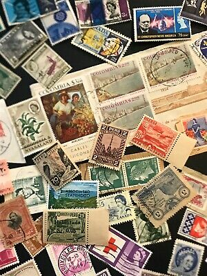 Worldwide Stamp Lot - Over 450 On & Off Paper - Mint / Used - Good Variety