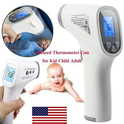 Digital Non-Contact IR Infrared Thermometer Kids Adult Forehead Body Meter Gun