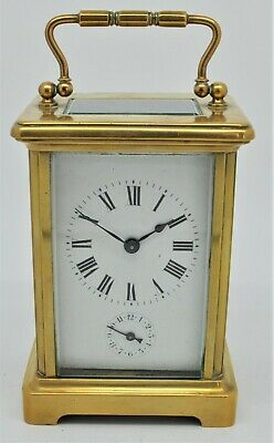 Brass Carriage Alarm clock 8-day wind