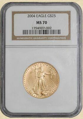 2004 $25 American Gold Eagle MS70 NGC 933118-1