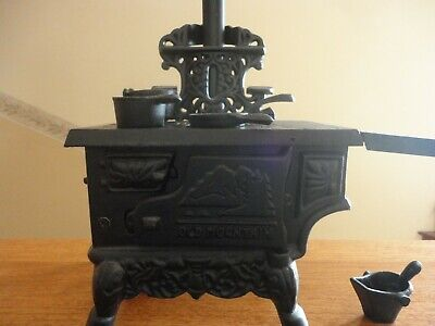 """Large Vintage """"Old Mountain """" Childs Cast Iron Stove"""