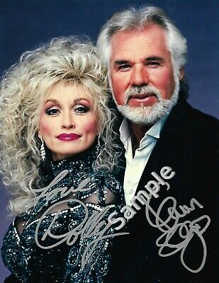 Dolly Parton & Kenny Rogers 8.5x11 Signed Autograph RP [Mint]
