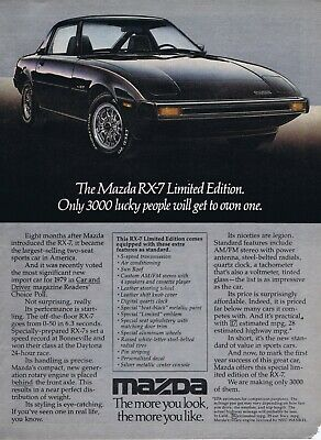 1979 Advertisement - MAZDA RX-7 LIMITED EDITION