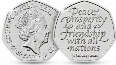 Brexit 50p Coin Brand New From Sealed Bag 31st January 2020................Z1101