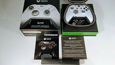 Microsoft Xbox One Elite Wireless Controller - Custom White With Black Buttons