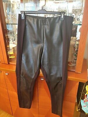 Ivanka Trump Womens leather look pants size 16 L XL