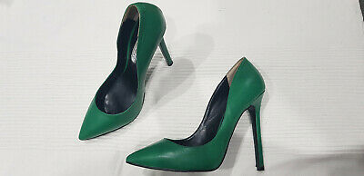 Tony Bianco - 'Leola' - Green Leather Stiletto Heels - Size 7