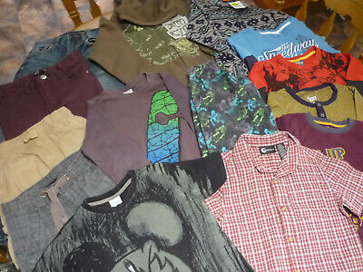 Boy's Size 7 Bundle of 14 Mixed Items, Pre-Loved, Play clothes: Jeans shorts,ETC