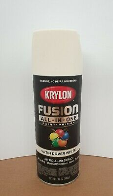 Krylon Fusion Plastic Paint 340gm - Satin Dover White- AUS Seller