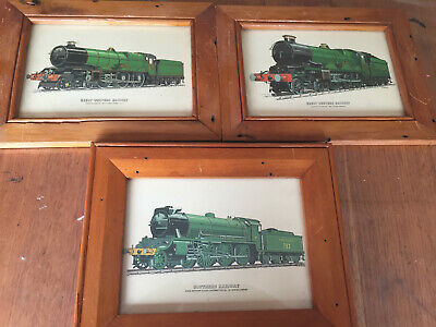 Old Framed Train pictures x 3