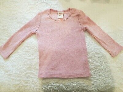 Seed Heritage Baby Girl Ribbed Knit Tee Top Size 0 / 6 - 12 Months