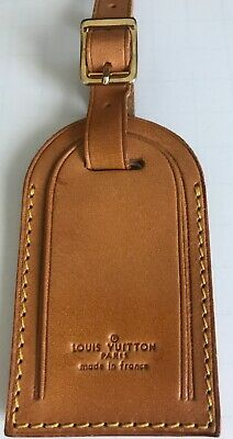 100% Authentic Louis Vuitton Large Luggage Name & Id Tag Made In France