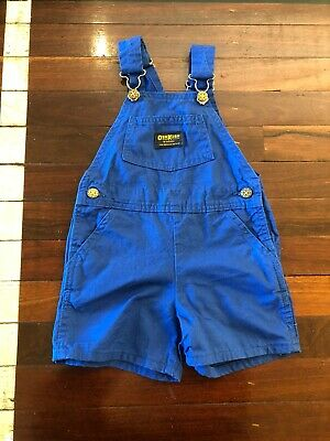 Vintage Osh Kosh Overall Shorts- Size 4T