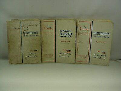Vintage Cessna Aircraft Manual Model 150 Manual Centurion Series Manual & Part