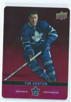 Tim Horton Red Parallel Die-Cut 2019-20 Tim Hortons Upper Deck Hockey DC-SP1