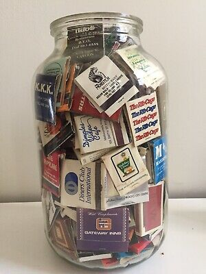Josh's Matches Collection Jar - late 70's, Mostly 80's, Early 90's