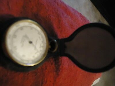 Victorian Guided Pocket barometer in case